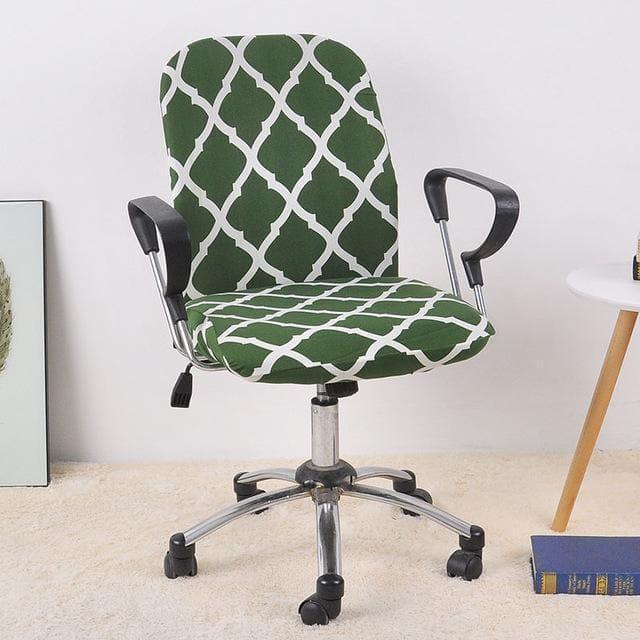 housse de chaise de bureau vert