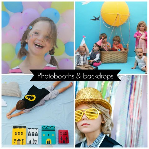 Photobooths and Backdrops for Parties