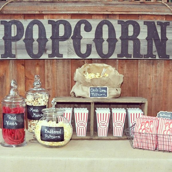 Popcorn Movie Party Ideas