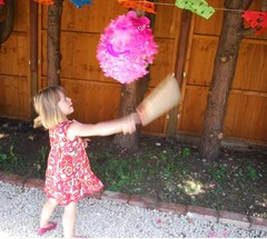 Girls pink pinata, Childrens Party Games