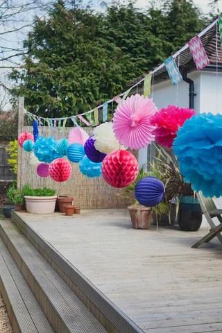 Honeycomb Decorations in Garden