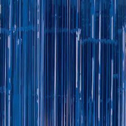 blue fringe foil curtain