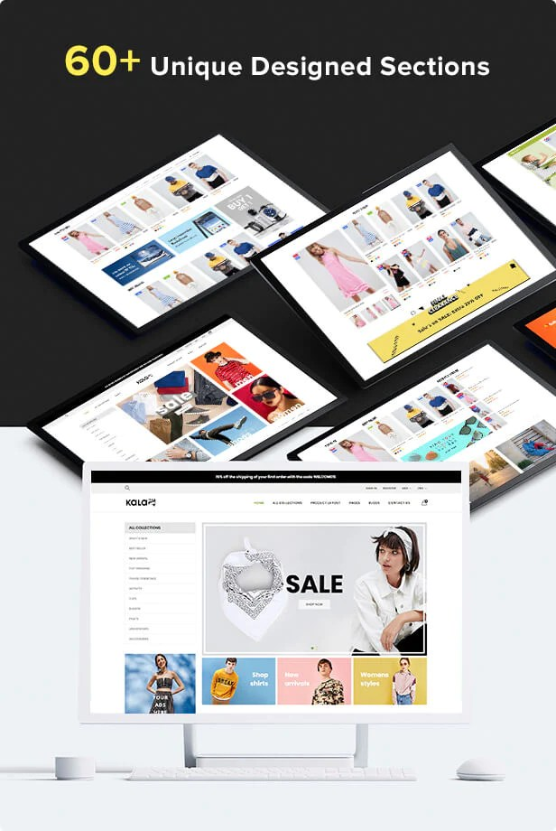 Shopify Kala with 60 sections