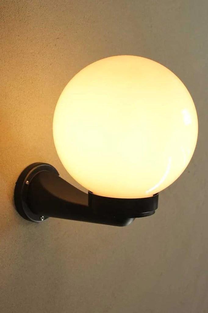 globe outdoor wall light