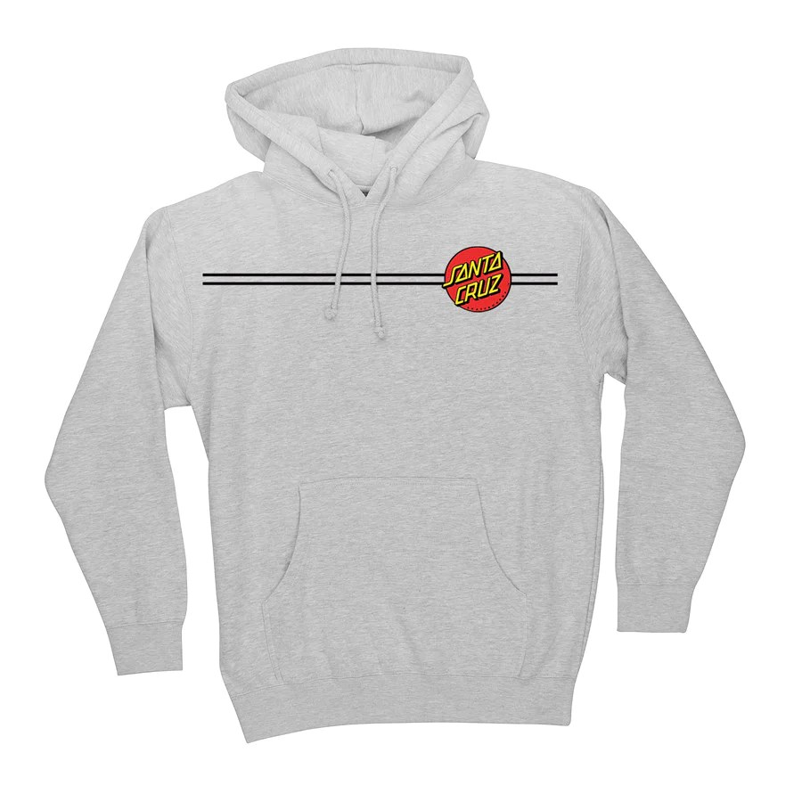 Santa Cruz Classic Dot Pullover Hooded Sweatshirt Grey