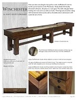 Winchester 14' Shuffleboard Spec Sheet