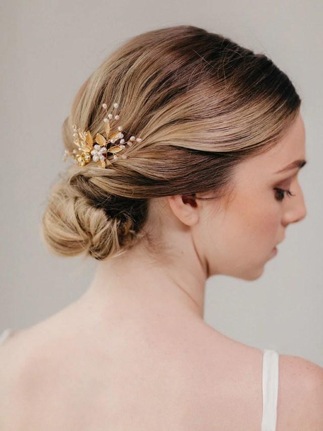 bouquet bridal hair comb   wedding accessory   eden comb