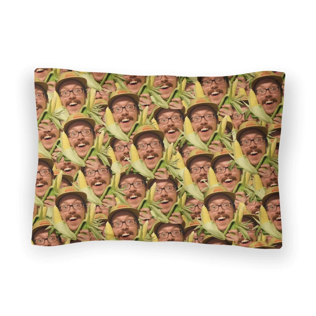 your face custom bed pillow case