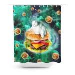 Hamburger Cat Shower Curtain Shelfies