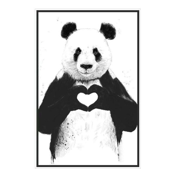 Panda Wall Sticker All You Need Is Love Panda Art By Balzs Solti