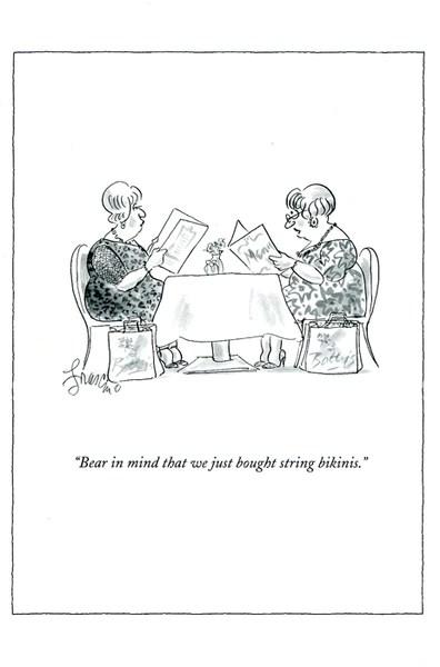 Funny Greeting Card New Yorker String Bikinis Comedy