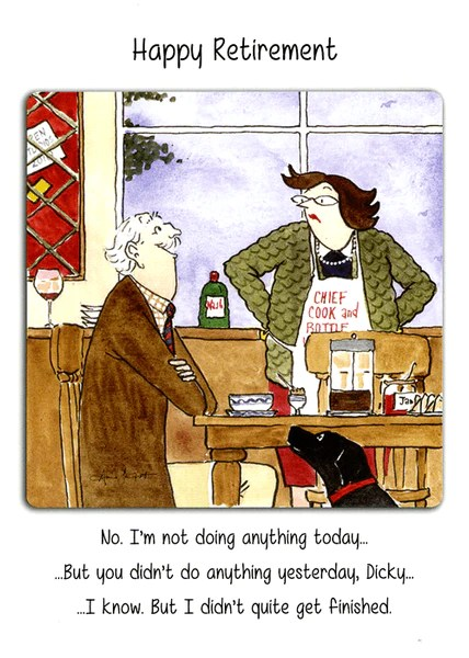 Funny Retirement Card Not Doing Anything Today Comedy