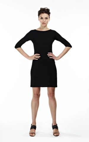 THE MCCARDELL 3/4 Sleeve Seamless Dress, Little Black Dress
