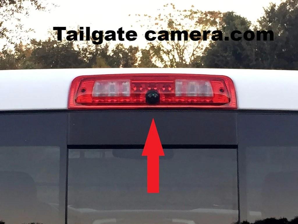 3rd Brake Light Backup Camera for 20132017 Dodge Ram Trucks with RCA | Tailgate Camera