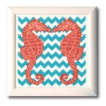 Embroidery Cross Stitch Supplies Counted X Stitch Chart Sea Horses 2 Art Craft Supplies Quatrok Com Br