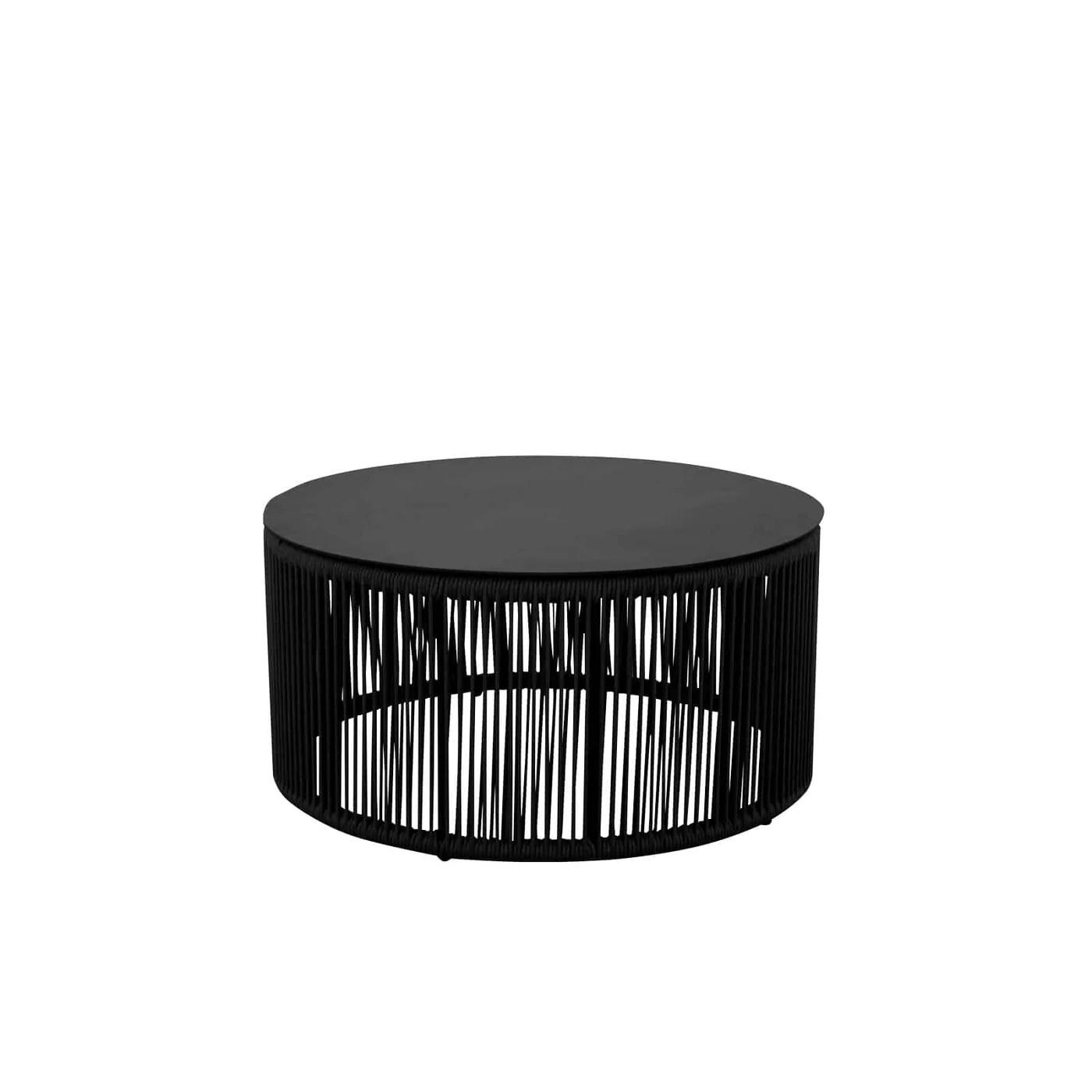 Savanna Small Coffee Table Round Black Durarope Your Patio Store