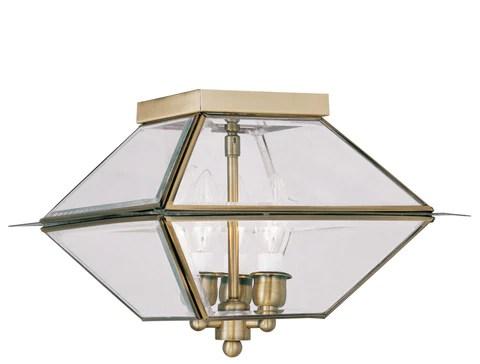 livex lighting 2185 01 westover ceiling light antique brass buy online 2185 01 outdoor lighting supply