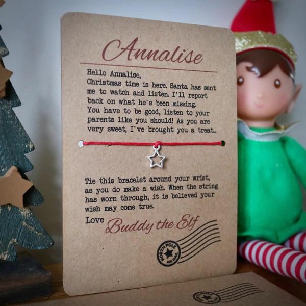 Personalised Elf Wish Bracelet Best Seller EllieBeanPrints