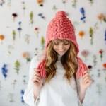 Free Bird Hoodie Hat Pattern Knit Collage