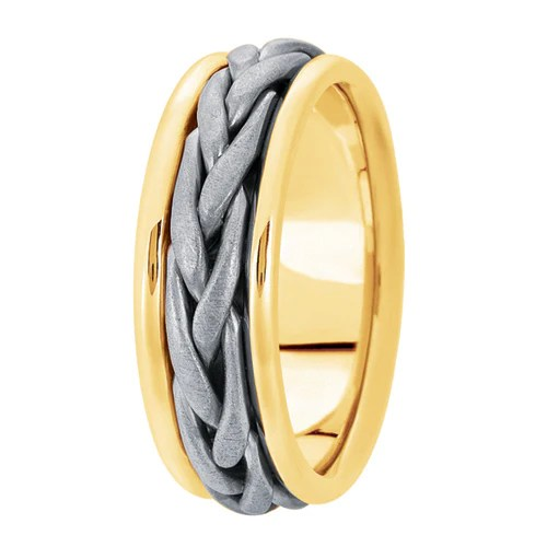 Woven Mens Wedding Band The Perfect Setting