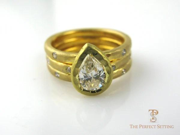 Pear Diamond In 14K Yellow Gold The Perfect Setting