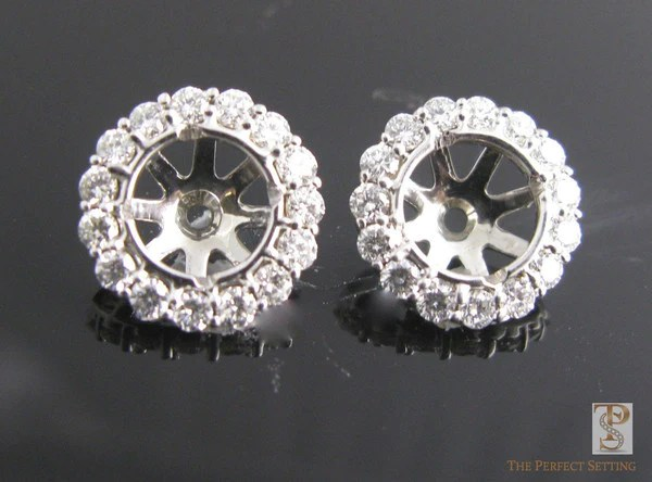 Diamond Stud Halo Earrings The Perfect Setting