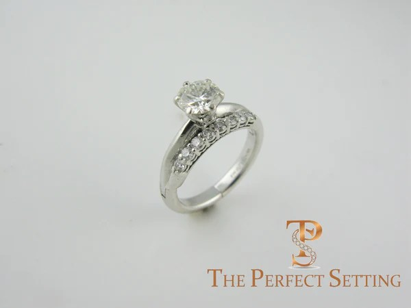 Destroyed Engagement Ring Repaired With Dual Adjustable
