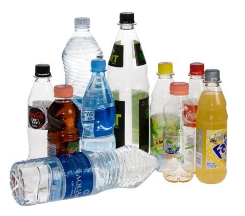 #1 plastic (PET) bottles