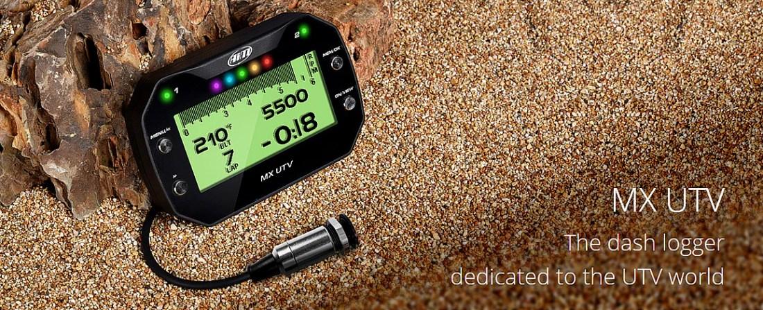 Aim MX UTV GPS Digital Dash with Belt Sensor