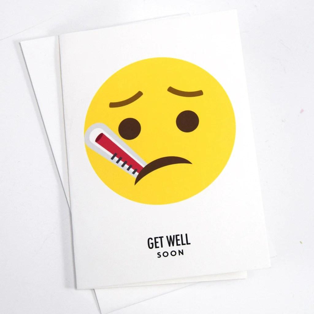 Emoji Get Well Soon Card Of Life Amp Lemons