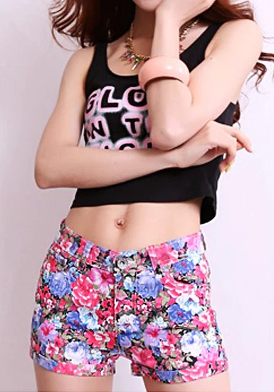 Floral Print Shorts from Lookbook Store