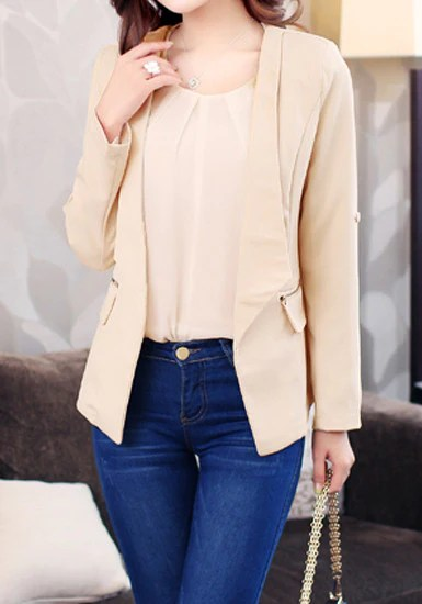 Crop Trim Blazer from Lookbook Store