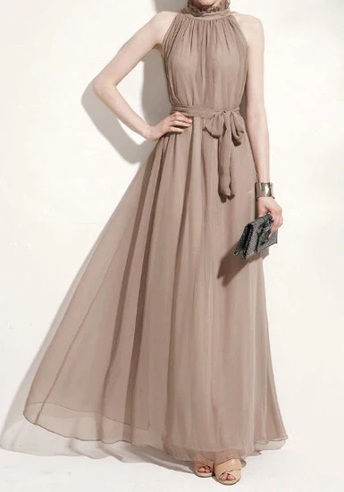 Glam Chiffon Maxi Dress