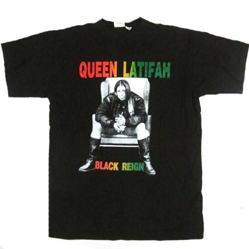 Vintage Queen Latifah 1991 T Shirt Hip Hop Rap 90s Black