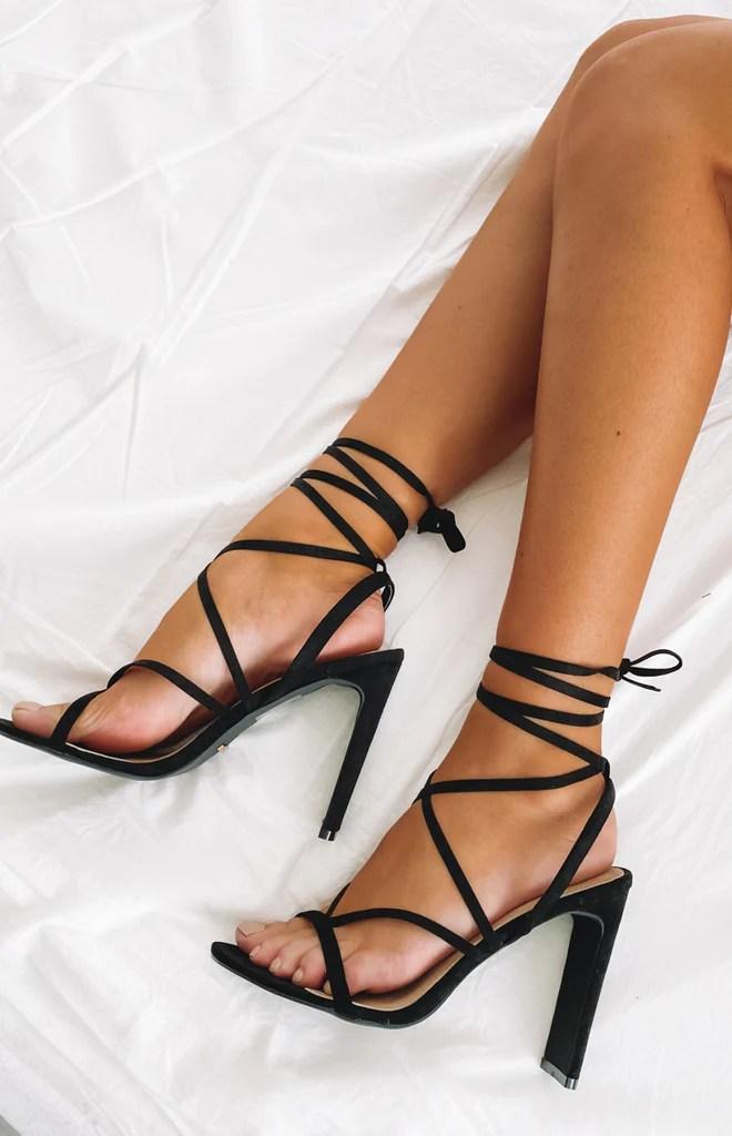 Billini Diya Heel Black Suede 4