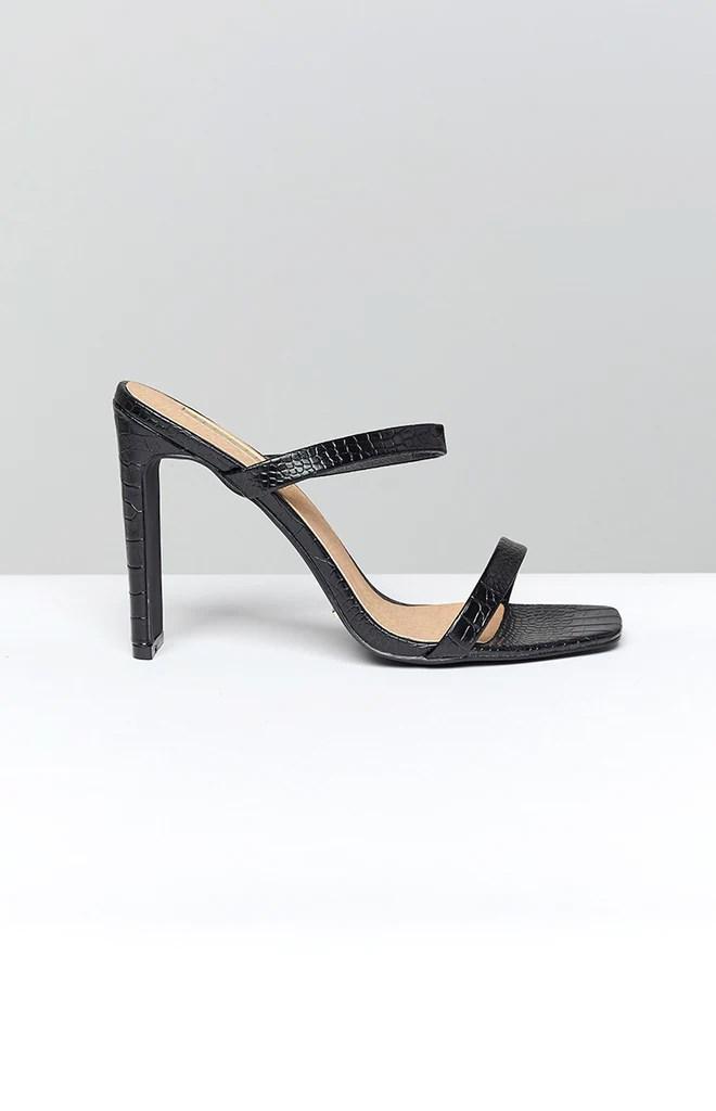 Billini Dana Heel Black Croc 10