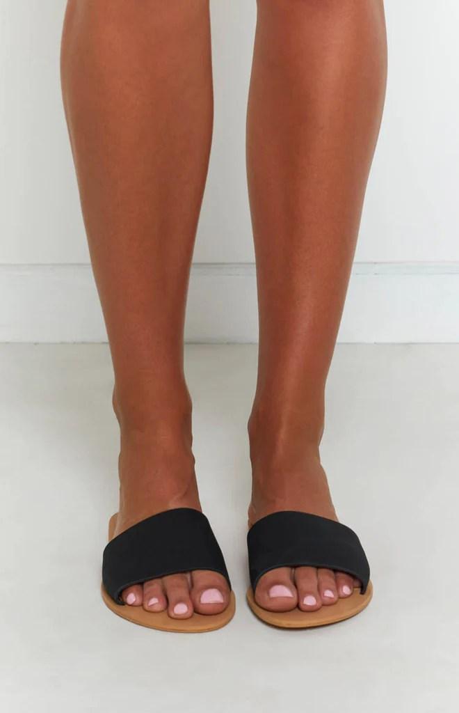 Billini Crete Sandals Black Nubuck 1