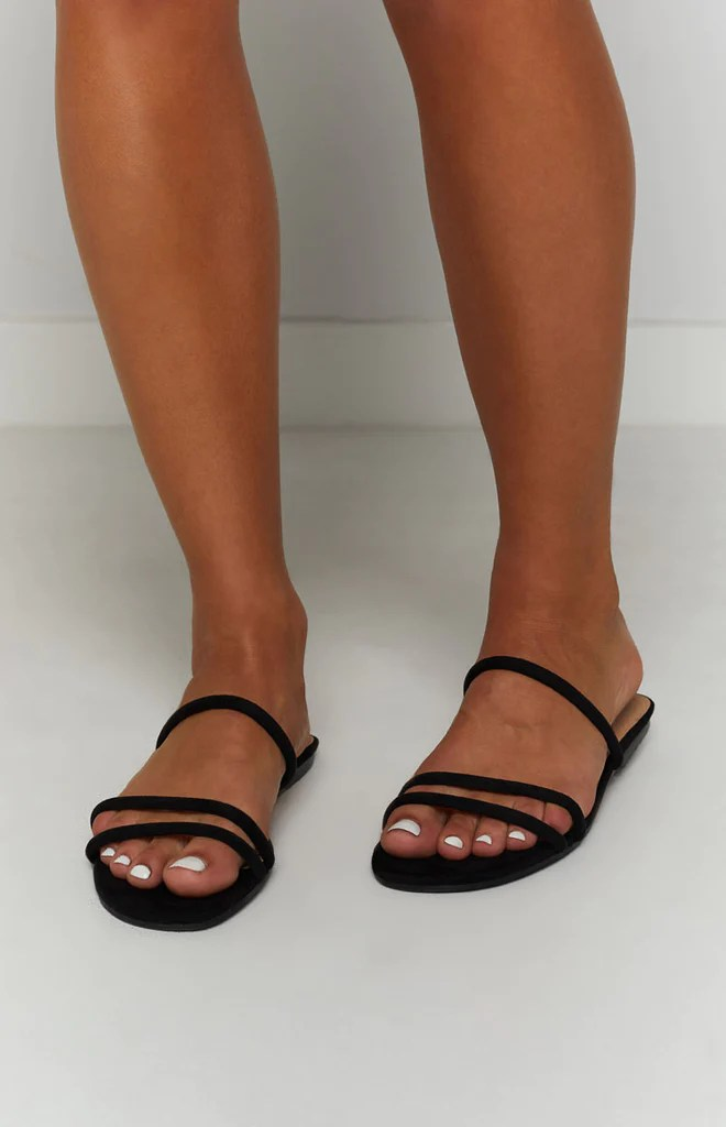 Billini Isla Sandals Black Suede 2