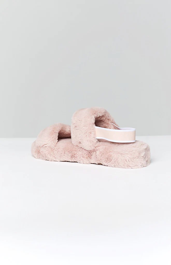 Hugs Fluffy Sandals Blush 3