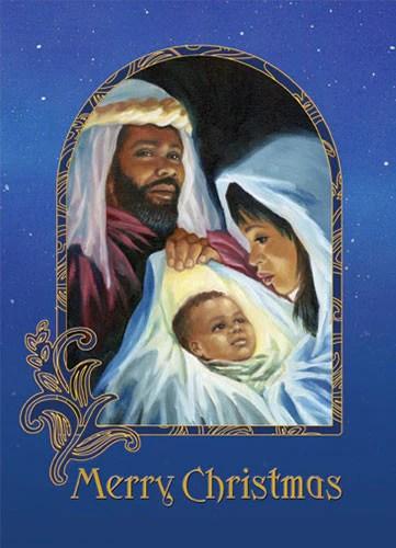 Merry Christmas Nativity African American Christmas