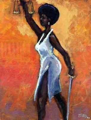 Lady Justice By Ted Ellis The Black Art Depot