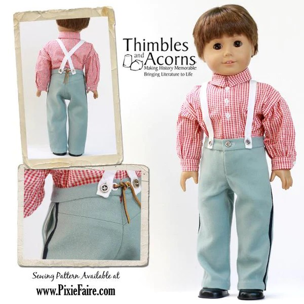 1860 Civil War Uniform 18 Inch Doll Clothes PDF Pattern