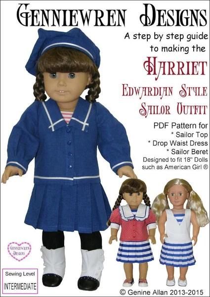 Genniewren Designs Harriet Edwardian Style Sailor Outfit