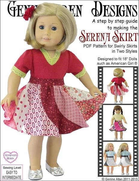 Genniewren Designs Serena Skirt Doll Clothes Pattern 18