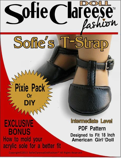 Sofie Clareese Fashion Sofies T Strap Shoe Doll Clothes