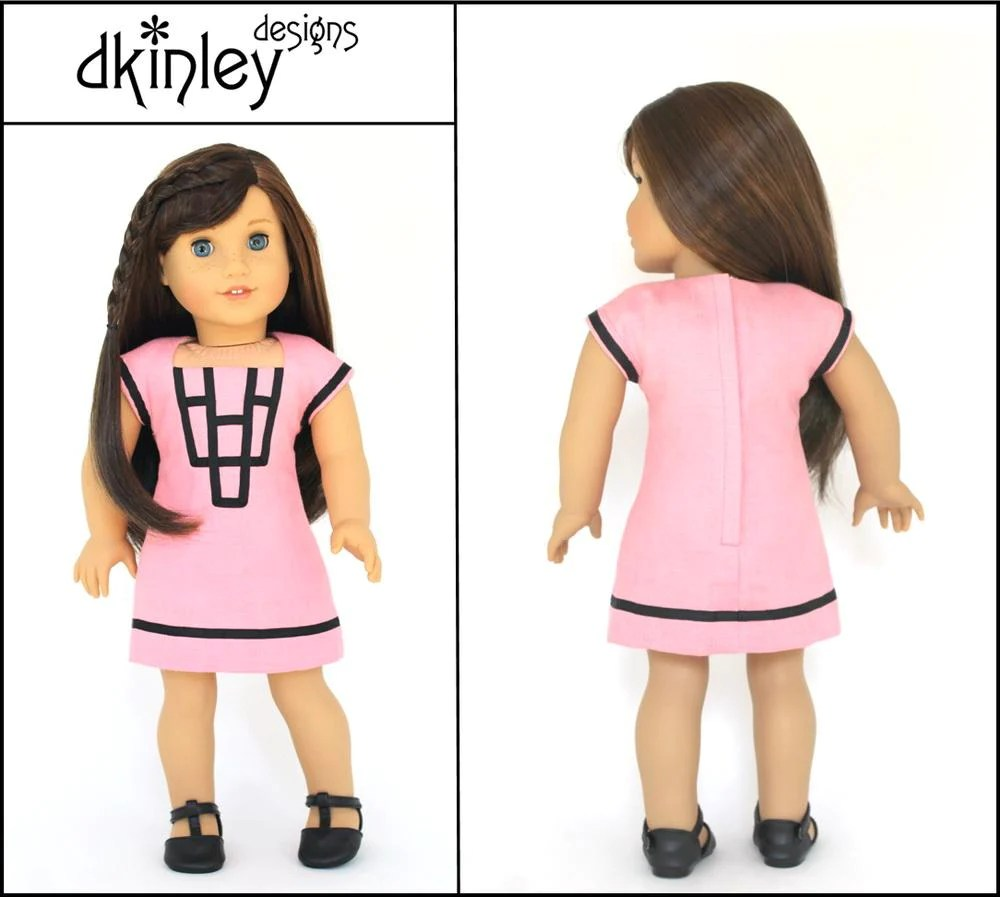 Dkinley Designs Art Deco Dress Doll Clothes Pattern 18