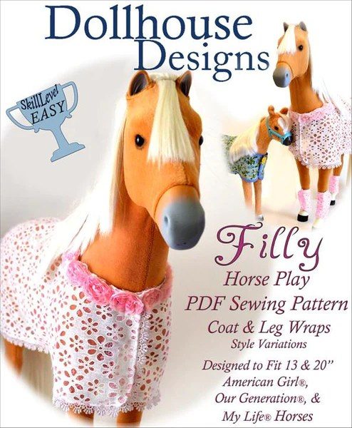 Dollhouse Designs Filly Horse Blanket And Accessories 18
