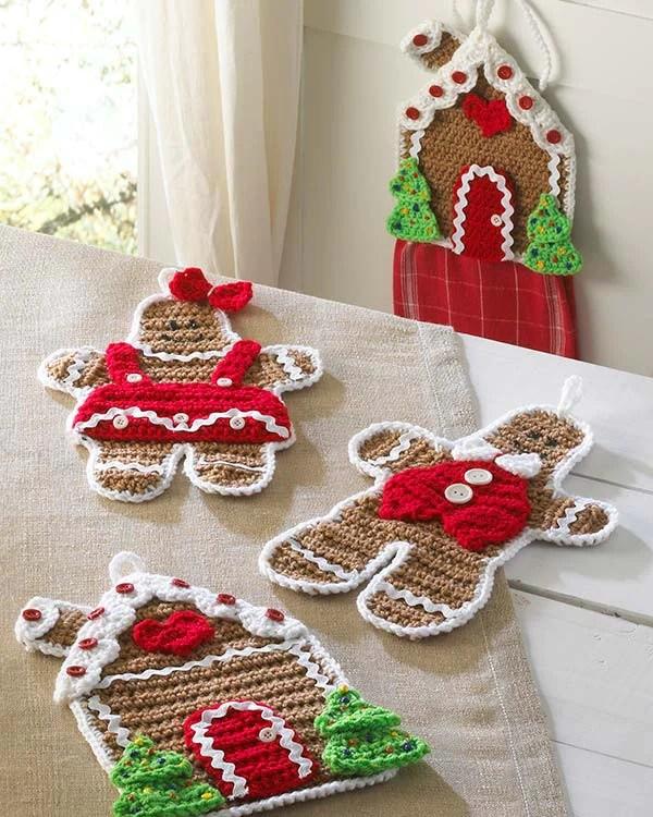 Gingerbread Kitchen Set Crochet Pattern Maggies Crochet