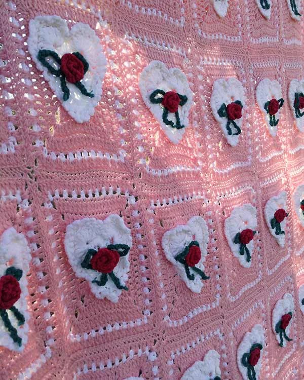 Valentines Day Afghan Amp Pillow Set Crochet Pattern