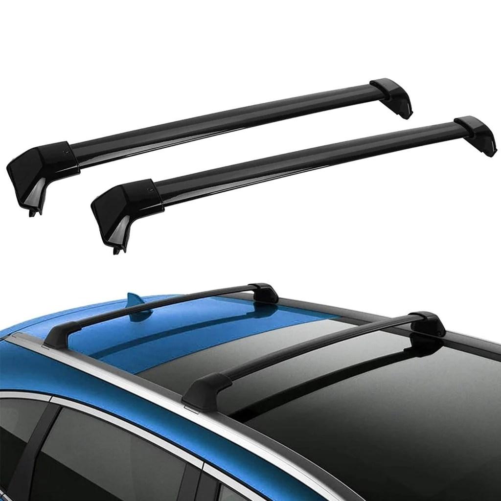 roof rack crossbars for 2012 2016 honda cr v aluminum cross bars for cargo carrier rooftop luggage bike rack with side rails